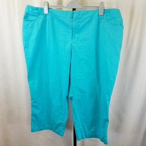 Plus Size Turquoise Venezia capri's 26
